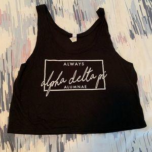 Always Alpha Delta Pi Alumnae Black Crop Top